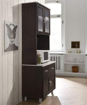 Pemberly Row Kitchen Cabinet In Chocolate Gray 0 2 300x360