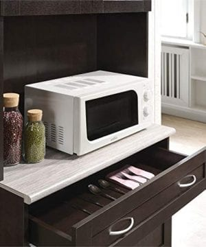Pemberly Row Kitchen Cabinet In Chocolate Gray 0 3 300x360