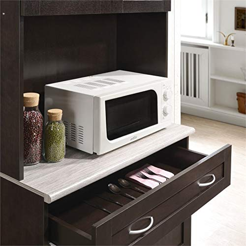 Pemberly Row Kitchen Cabinet In Chocolate Gray 0 3
