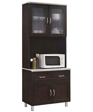 Pemberly Row Kitchen Cabinet In Chocolate Gray 0 300x360
