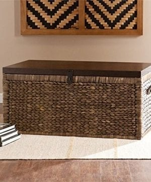 Pemberly Row Trunk Coffee Table In Blackwash 0 300x360