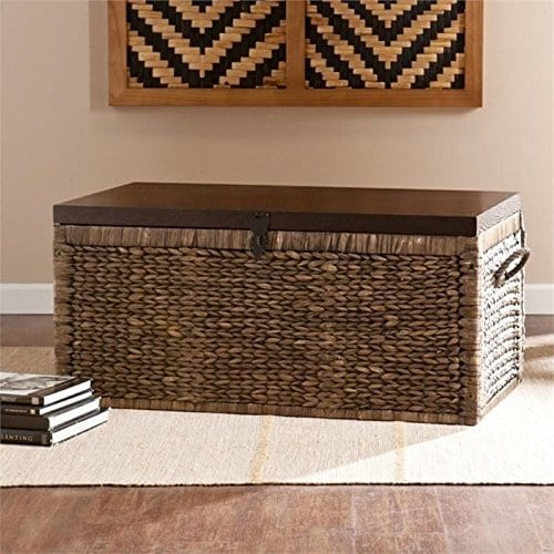 Pemberly Row Trunk Coffee Table In Blackwash Farmhouse Goals