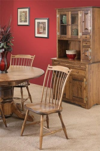 Pine Solid Wood Hoosier Hutch Cabinet Made In America Amish Handcrafted Special Walnut Stain 0 0