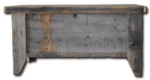 Rustic Barn Wood Trunk 0
