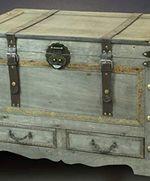Rustic Gray Large Wooden Storage Trunk Coffee Table With Two Drawers 0 0 300x360