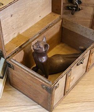 SLPR Natural Treasures Wooden Trunk Chest Set Of 2 Natural Decorative Old Rustic Wooden Keepsake Memory Trinket Nesting Boxes 0 3 300x360