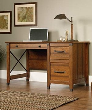Sauder 412920 Carson Forge Desk L 5319 X W 2264 X H 2980 Washington Cherry Finish 0 1 300x360