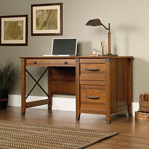 Sauder 412920 Carson Forge Desk L 5319 X W 2264 X H 2980 Washington Cherry Finish 0 1