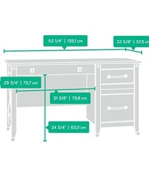 Sauder 412920 Carson Forge Desk L 5319 X W 2264 X H 2980 Washington Cherry Finish 0 2 300x360