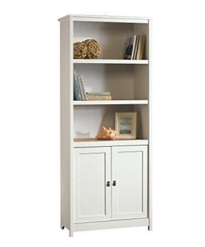 Sauder 417593 Cottage Road Library With Doors L 2929 X W 1398 X H 7150 Soft White Finish 0 300x360