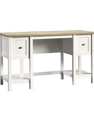 Sauder 418072 Cottage Road Desk L 5394 X W 1945 X H 2976 Soft White Finish 0 300x360