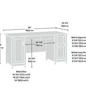 Sauder 418793 Edge Water Computer Desk L 5906 X W 2323 X H 2902 Chalked Chestnut Finish 0 0 300x360