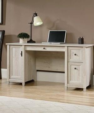 Sauder 418793 Edge Water Computer Desk L 5906 X W 2323 X H 2902 Chalked Chestnut Finish 0 1 300x360
