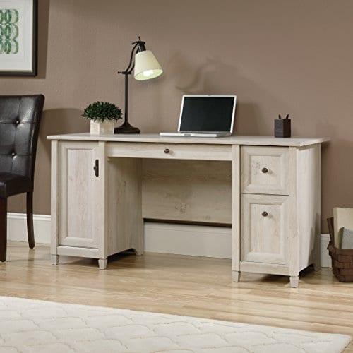 Sauder 418793 Edge Water Computer Desk L 5906 X W 2323 X H 2902 Chalked Chestnut Finish 0 1