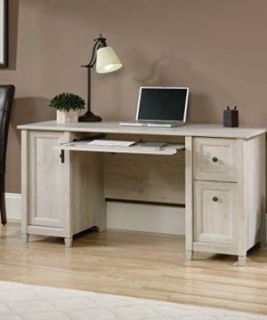 Sauder 418793 Edge Water Computer Desk L 5906 X W 2323 X H 2902 Chalked Chestnut Finish 0 2 300x360