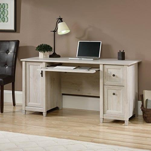 Sauder 418793 Edge Water Computer Desk L 5906 X W 2323 X H 2902 Chalked Chestnut Finish 0 2