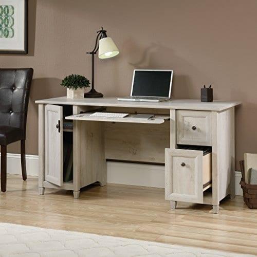 Sauder 418793 Edge Water Computer Desk L 5906 X W 2323 X H 2902 Chalked Chestnut Finish 0 3