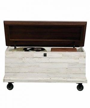 Sauder 419590 Eden Rue Rolling Chest L 3717 X W 1945 X H 1850 White Plank Finish 0 300x360