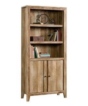 Sauder 420409 Dakota Pass Library With Doors L 3382 X W 1252 X H 7110 Craftsman Oak Finish 0 0 300x360
