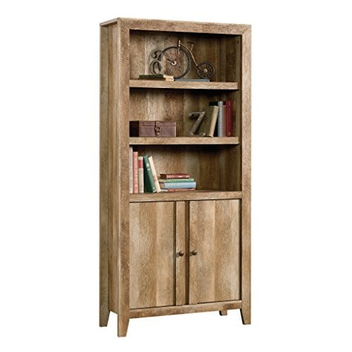Sauder 420409 Dakota Pass Library With Doors L 3382 X W 1252 X H 7110 Craftsman Oak Finish 0 0