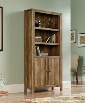 Sauder 420409 Dakota Pass Library With Doors L 3382 X W 1252 X H 7110 Craftsman Oak Finish 0 1 300x360