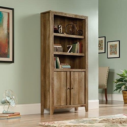 Sauder 420409 Dakota Pass Library With Doors L 3382 X W 1252 X H 7110 Craftsman Oak Finish 0 1