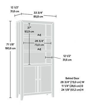 Sauder 420409 Dakota Pass Library With Doors L 3382 X W 1252 X H 7110 Craftsman Oak Finish 0 2 300x360