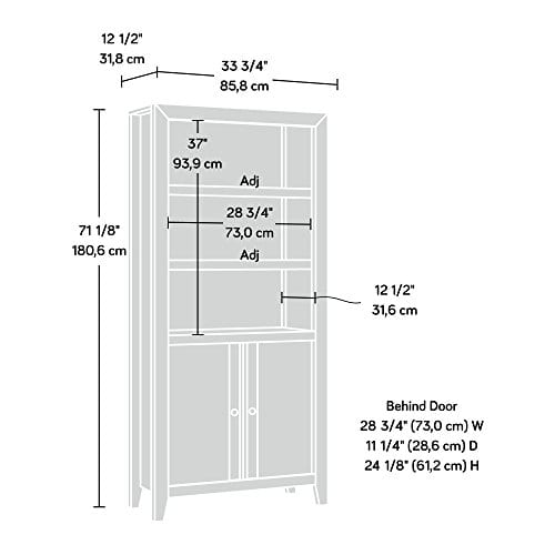 Sauder 420409 Dakota Pass Library With Doors L 3382 X W 1252 X H 7110 Craftsman Oak Finish 0 2