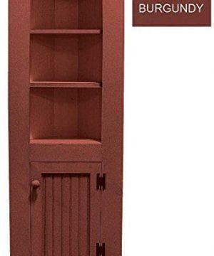Sawdust City Small Wooden Corner Hutch Solid Burgundy 0 300x360
