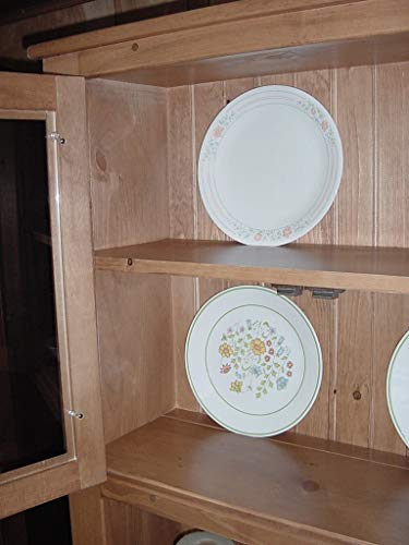 Solid Wood Pine Hoosier Buffet Server And Hutch With Cupboard Storage Space Primitive Paint Black 0 1