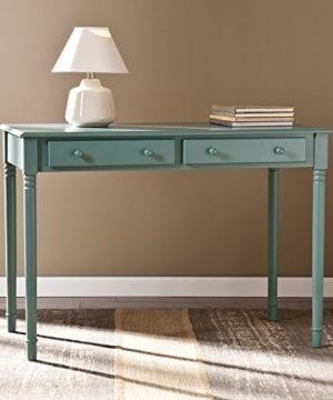 Southern Enterprises Janice 2 Drawer Writing Desk 42 Wide Agate Green Finish 0 0 300x360