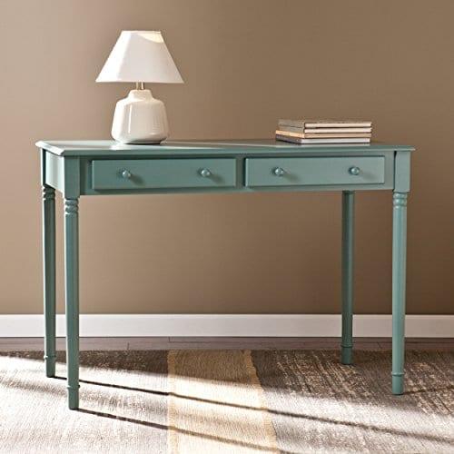 Southern Enterprises Janice 2 Drawer Writing Desk 42 Wide Agate Green Finish 0 0