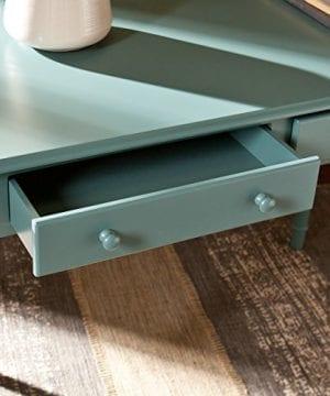 Southern Enterprises Janice 2 Drawer Writing Desk 42 Wide Agate Green Finish 0 1 300x360