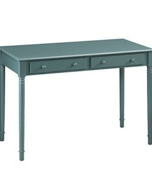 Southern Enterprises Janice 2 Drawer Writing Desk 42 Wide Agate Green Finish 0 300x360
