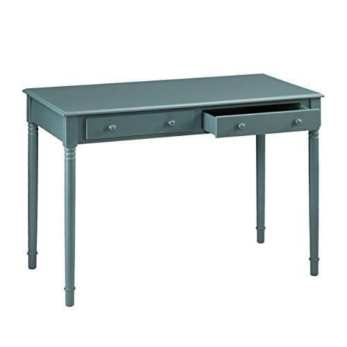 Southern Enterprises Janice 2 Drawer Writing Desk 42 Wide Agate Green Finish 0 4