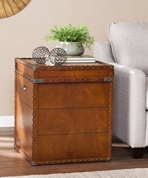 Southern Enterprises Steamer Trunk End Table 0 0 300x360