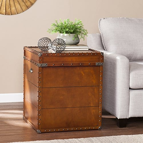 Southern Enterprises Steamer Trunk End Table 0 0