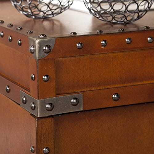 Southern Enterprises Steamer Trunk End Table 0 1
