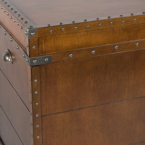 Southern Enterprises Steamer Trunk End Table 0 2