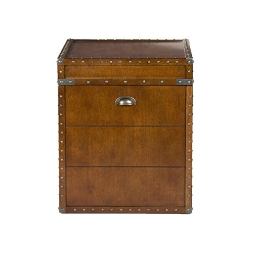Southern Enterprises Steamer Trunk End Table 0 3