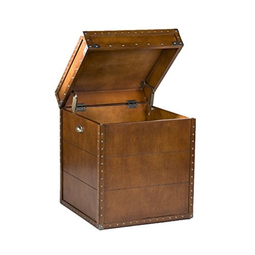 Southern Enterprises Steamer Trunk End Table 0 4