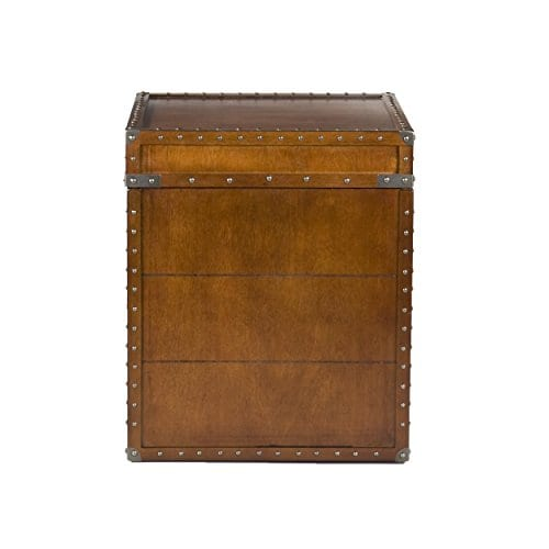 Southern Enterprises Steamer Trunk End Table 0