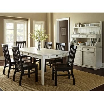 Steve Silver Cayla Buffet With Hutch In Antique White 0 0