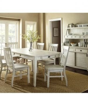 Steve Silver Cayla Buffet With Hutch In Antique White 0 1 300x360