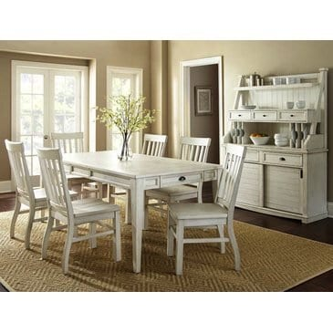Steve Silver Cayla Buffet With Hutch In Antique White 0 1