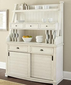 Steve Silver Cayla Buffet With Hutch In Antique White 0 300x360