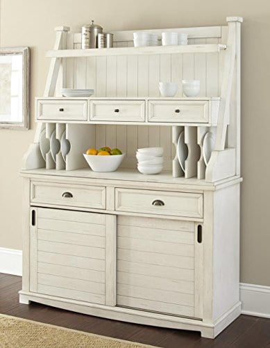 Steve Silver Cayla Buffet With Hutch In Antique White 0