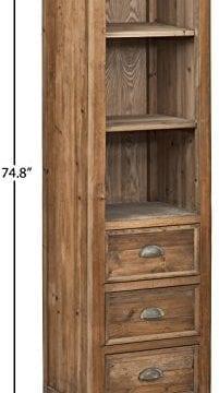 Stone Beam Bryson Narrow Bookcase 197W Wood 0 2 201x360