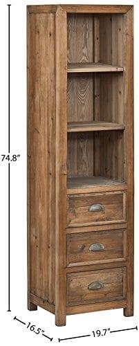 Stone Beam Bryson Narrow Bookcase 197W Wood 0 2