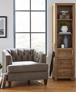 Stone Beam Bryson Narrow Bookcase 197W Wood 0 4 300x360